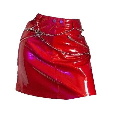 red leather skirt - sunvsstars