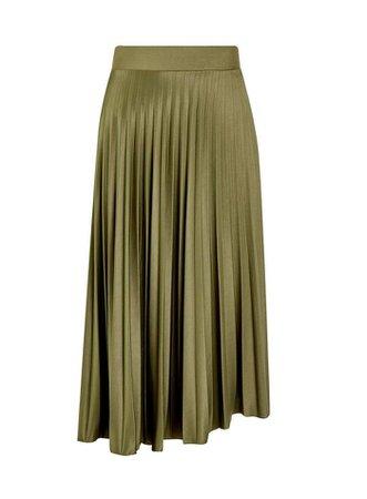 **DP Tall Khaki Pleated Skirt   Dorothy Perkins