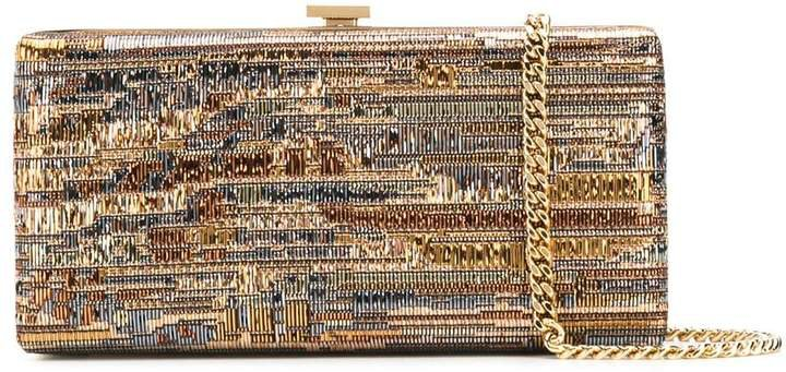 Beaded Clasp Clutch Bag