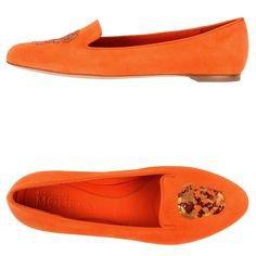 Orange Loafer Flats