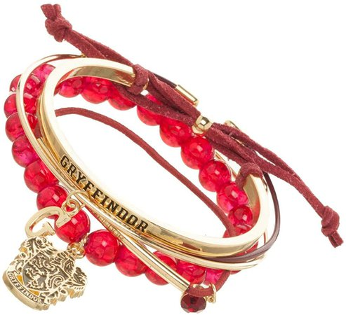 Amazon.com: Harry Potter Gryffindor Arm Party Bracelet Set,Red & Gold,One Size: Clothing