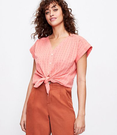 Petite Clip V-Neck Shirt