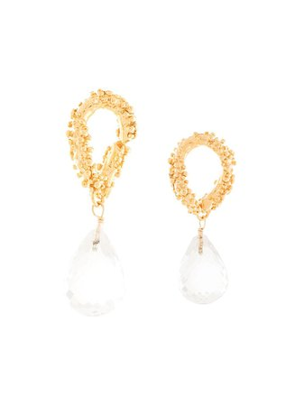 Shop gold Alighieri The Initial Spark earrings with Express Delivery - Farfetch