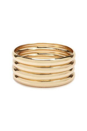 Solid Bangle & Chain Bracelet Set | Forever 21