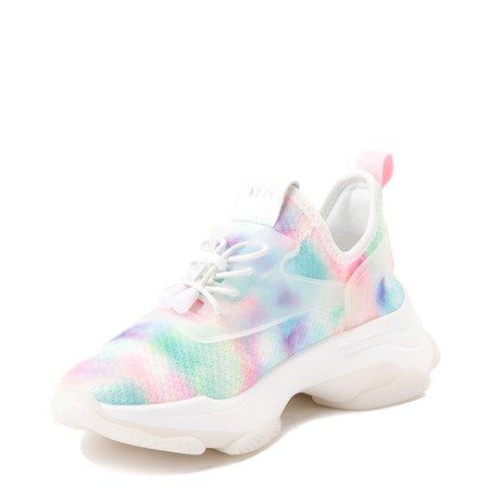 Womens Steve Madden Myles Athletic Shoe - White / Multicolor | Journeys