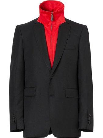 Burberry Track Top Insert Tailored Jacket 8023167 Black | Farfetch
