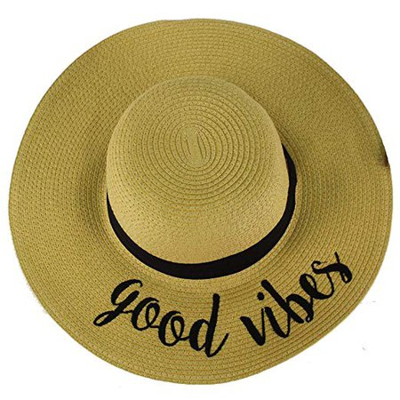 C.C Always on Vacay Wide Brim 4\ Summer Derby Beach Pool Floppy Dress Sun Hat at Amazon Women's Clothing store