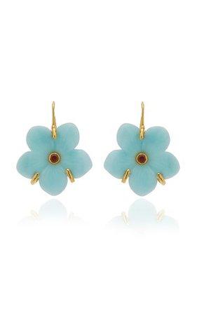 New Bloom Amazonite Earrings By Lizzie Fortunato | Moda Operandi