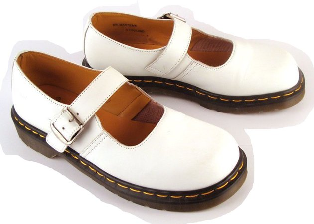 Dr. Martens White Mary Jane Shoes
