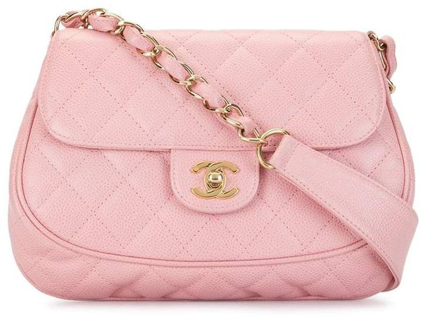 quilted CC shoulder bag