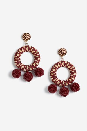 Wrapped Beaded Earrings - Jewellery - Bags & Accessories - Topshop