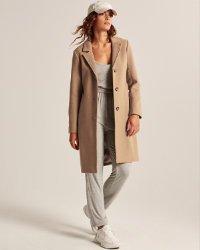 Women's Wool-Blend Dad Coat   Women's Coats & Jackets   Abercrombie.com