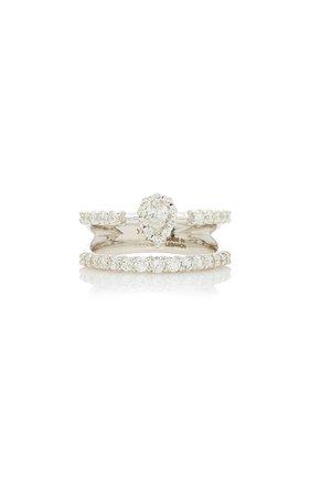 Yeprem 18K White Gold Mystical Garden Ring Size: 7.75