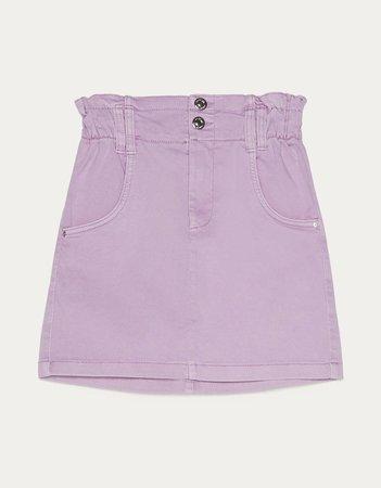 Short paperbag skirt - Best Sellers - Bershka United States