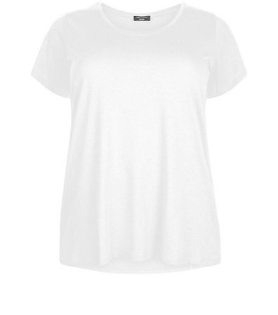 New Look Curves White Scoop Neck T-Shirt