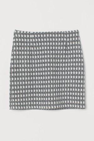 Jacquard-knit Skirt - Black
