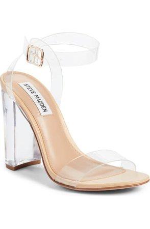 Steve Madden Camille Clear Ankle Strap Sandal (Women) | Nordstrom