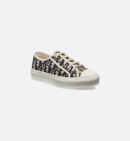 Walk'n'Dior Sneaker in Oblique embroidered canvas - Shoes - Women's Fashion   DIOR
