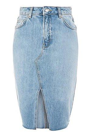 Belted Denim Midi Skirt - Topshop
