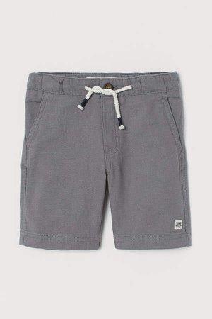 Linen-blend Shorts - Gray