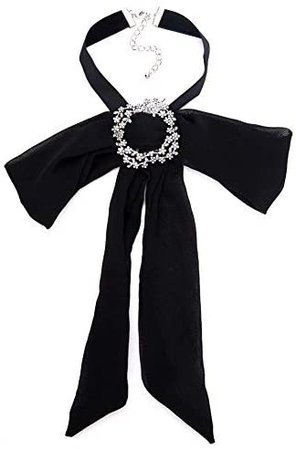 Amazon.com: Christmas Crystal Long Bow Tie Black Brooch Jabot Neck Cravat Brooch Pin Brooch Rhinestone Cloth Art Pins Brooches Ladies Broaches Collar Decoration Groom Blouse Jewelry Brooch (Black): Arts, Crafts & Sewing
