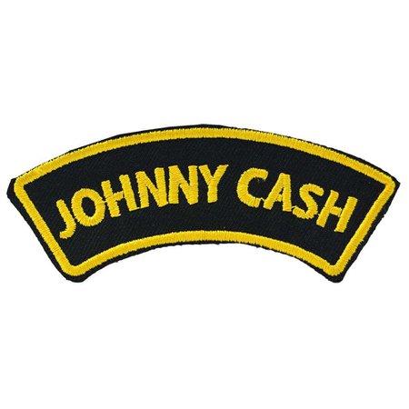 Johnny Cash Arch Iron On Patch | Retro Rockabilly