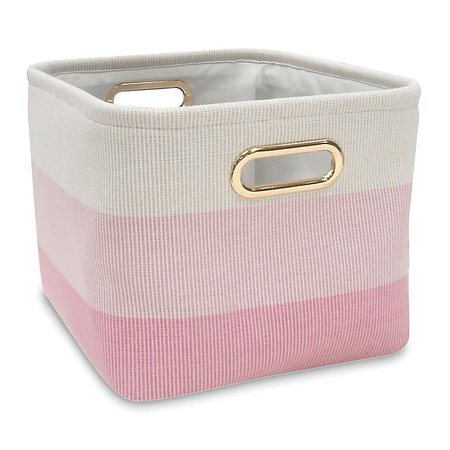 Lambs & Ivy® Ombre Storage Basket in Pink/Gold | buybuy BABY