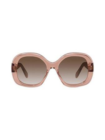 CELINE 55MM Oversized Round Sunglasses | SaksFifthAvenue