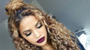 curly bun hairstyles - Google Search