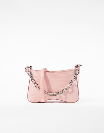 Crossbody bag with chain - ACCESSORIES - Woman   Bershka
