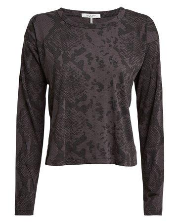 Rag & Bone | Python-Printed Long Sleeve T-Shirt | INTERMIX®