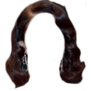 Short Brown Black Hair PNG 20s 30s 40s 50s