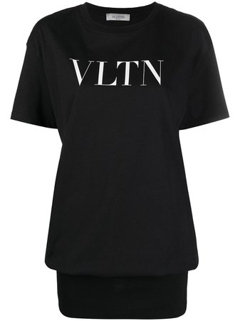 Shop Valentino logo-print T-shirt with Express Delivery - FARFETCH