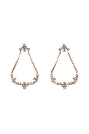 18-Karat Rose Gold and Diamond Chandelier Earrings Gr. One Size