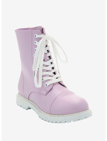 Lavender Combat Boots