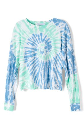 Daydreamer Tie Dye Long Sleeve Crop T-Shirt   Nordstrom