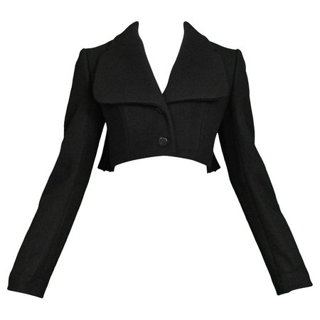 1990s Azzedine Alaia Cropped Corset Jacket For Sale at 1stdibs