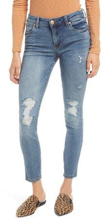 Emma Distressed Skinny Jeans