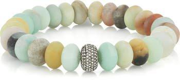 Sheryl Lowe Amazonite Bracelet with Pavé Diamonds   Nordstrom
