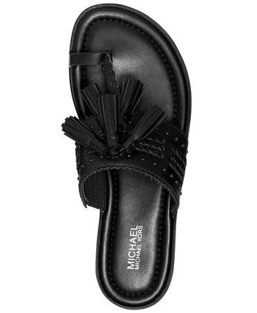 Black Michael Kors Hana Thong Sandals & Reviews - Sandals - Shoes - Macy's