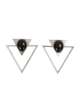 Saint Laurent Saint Laurent Earrings - Silver - 10913614 | italist