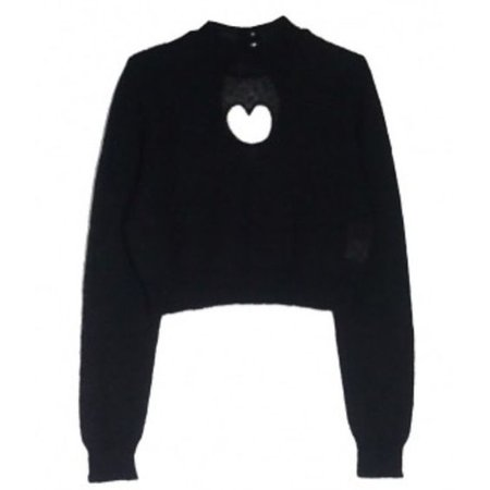 Black Sweater With A Heart Cut Out