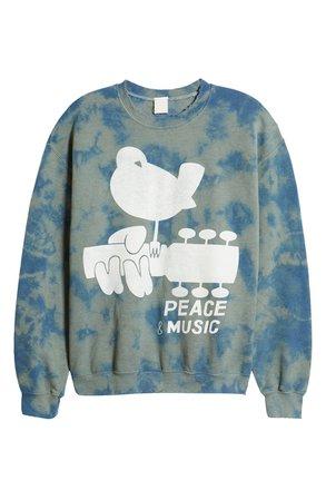 MadeWorn Woodstock Peace & Music Graphic Sweatshirt | Nordstrom