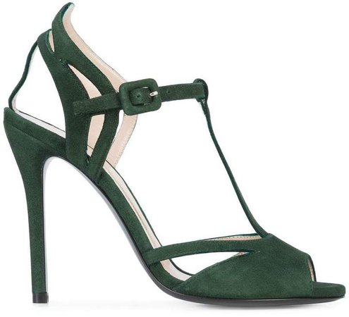 Olivier Theyskens strappy peep toe pumps