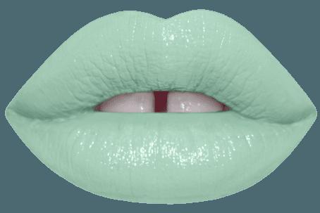 Mint Green lips 1