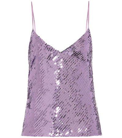 Galvan - Sequined camisole   Mytheresa