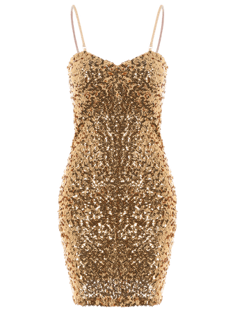 Mini Slip Sequins Prom Dress GOLDEN: Mini Dresses ONE SIZE(FIT SIZE XS TO M) | ZAFUL