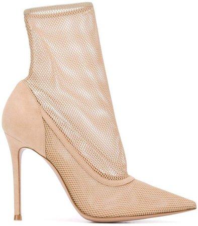Fishnet Sock Boots