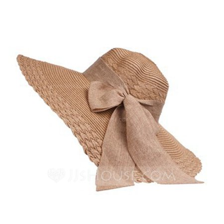 Ladies' Beautiful Raffia Straw With Bowknot Floppy Hat/Beach/Sun Hats (196123873) - Hats - JJ's House