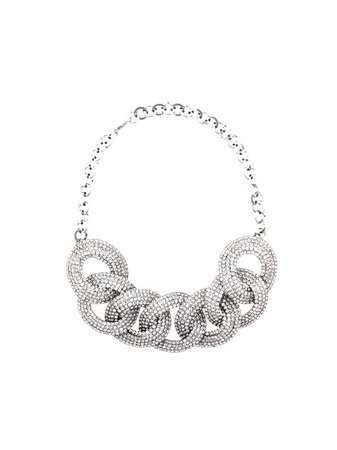 Alessandra Rich Embellished Chain Necklace - Farfetch